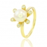 Золотое кольцо с жемчугом (К9912)