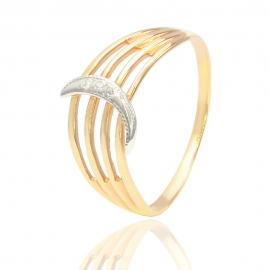 Золотое кольцо с куб. цирконием (7740)