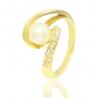Золотое кольцо с жемчугом (СК0103)