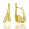 Золотые серьги с жемчугом (СК0104)