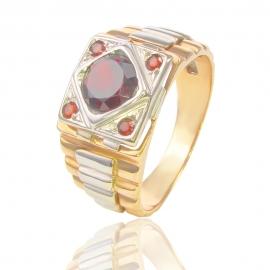Золотой перстень с гранатом (СК5500)