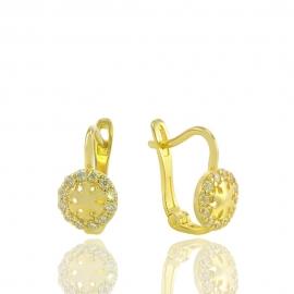 """Золоті дитячі сережки """"Сніжинка"""""""" (Н5243)"""