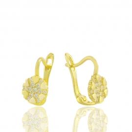 """Золоті дитячі сережки """"Сніжинка"""" (Н5244)"""