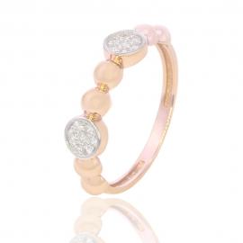 Золотое кольцо с куб. цирконием (Н5585)
