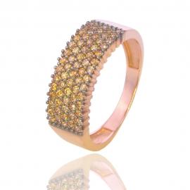 Золотое кольцо с куб. цирконием (Н5100)