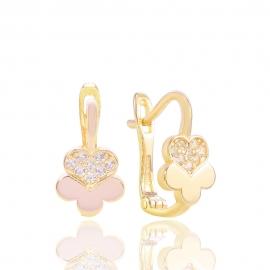 Золоті дитячі сережки з куб. цирконієм (Н5150)