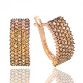 Золотые серьги с куб. цирконием (Н5170)