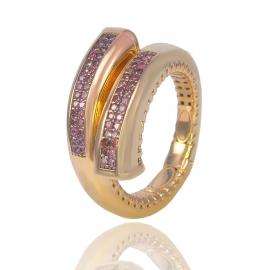 Золотое кольцо с куб. цирконием (Н5256)