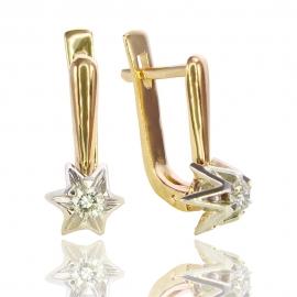 Золотые серьги с куб. цирконием (С0229)