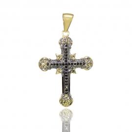 Золотий хрестик з шпінелью (Н6001)