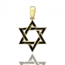 Золотий кулон Зірка Давида (Н6032)