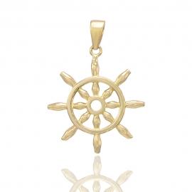 Золотий кулон Штурвал (Н6035)