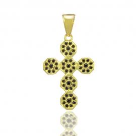 Золотой крестик с шпинелью (Н6042)