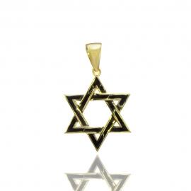 Золотой кулон Звезда Давида (Н6044)