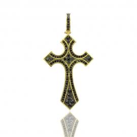 Золотой крестик с шпинелью (Н6045)