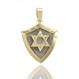 Золотой кулон Звезда Давида (Н6036)