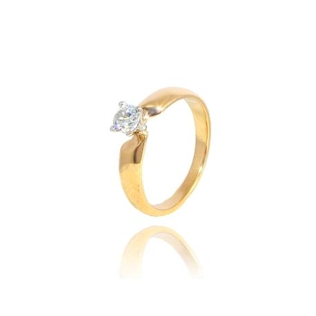 Золотое кольцо с куб. цирконием (К0758)