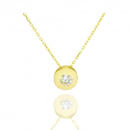 Золотое колье с куб. цирконием (Н7010)