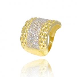 Золотое кольцо с куб. цирконием (К1214)