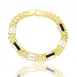 Золотий чоловічий браслет (Н7002)
