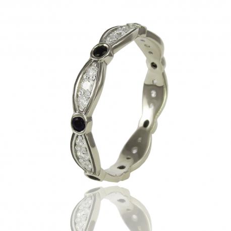 Золотое кольцо с куб. цирконием и шпинелью (К1161)