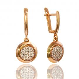 Золоті сережки з куб. цирконієм (С0646)