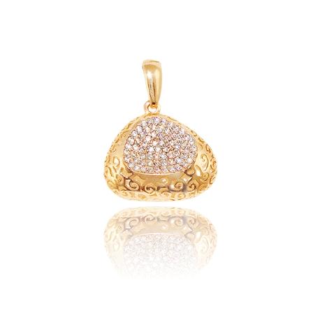 Золотой кулон с куб. цирконием (П0711)