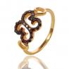 Золота каблучка з шпінелью (К0958)