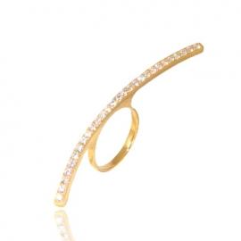 Золотое кольцо с куб. цирконием (К1122)