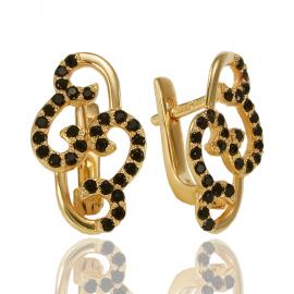 Золоті сережки з шпінел'ю (С0790)