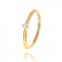 Золотое кольцо с куб. цирконием (К0363)