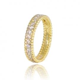 Золотое кольцо с куб. цирконием (К1049)