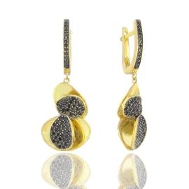 Золоті сережки з шпінел'ю (55567)