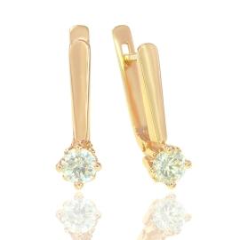Золоті сережки з куб. цирконієм (С0210)