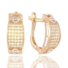 Золоті сережки з куб. цирконієм (34483)