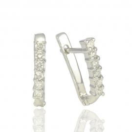 Золоті сережки з куб. цирконієм (С0251)