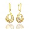 Золоті сережки з куб. цирконієм (54193)
