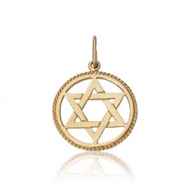 Золотой кулон Звезда Давида (П0008)