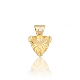 Золотой кулон с цитрином (П0037)