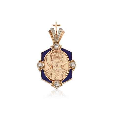 Золотой кулон с куб. цирконием (П0144)