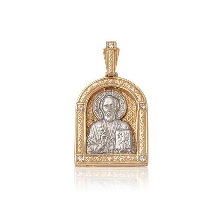 Золотой кулон с куб. цирконием (П0159)