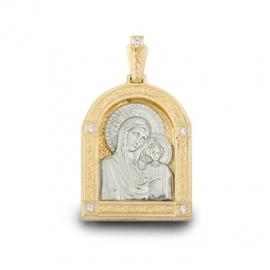 Золотой кулон с куб. цирконием (П0160)