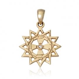 Золотой кулон с куб. цирконием (П0275)