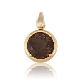 Золотой кулон с кварцем (П0314)