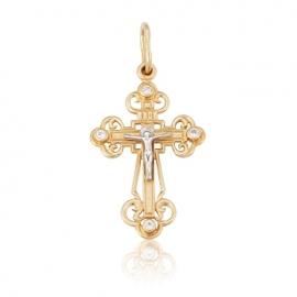 Золотой крестик с куб. цирконием (277)