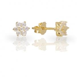 Золотые серьги с куб. цирконием (С0521)