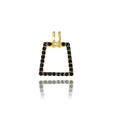 Золотой кулон с сапфиром (П0747)