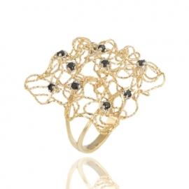 Золотое кольцо с шпинелью (1348)
