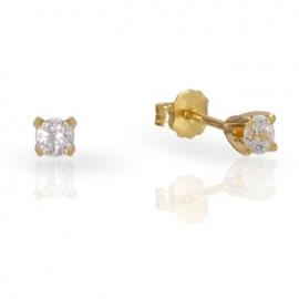 Золотые серьги с куб. цирконием (С0509)
