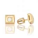 Золотые серьги с куб. цирконием (С0271)